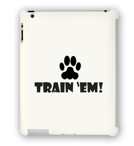 Train 'Em White iPad Case