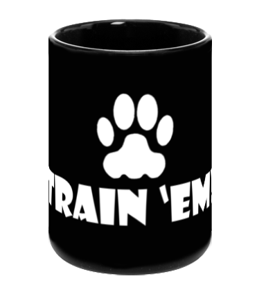 Train 'Em Black Coffee Mug