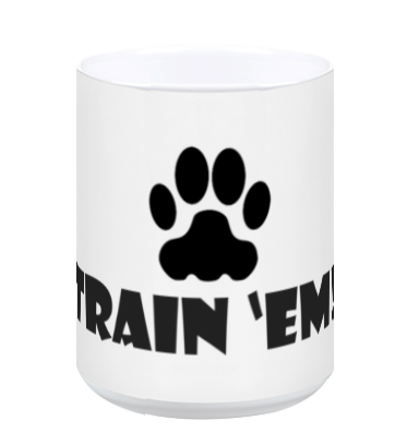 Train 'Em White Coffee Mug