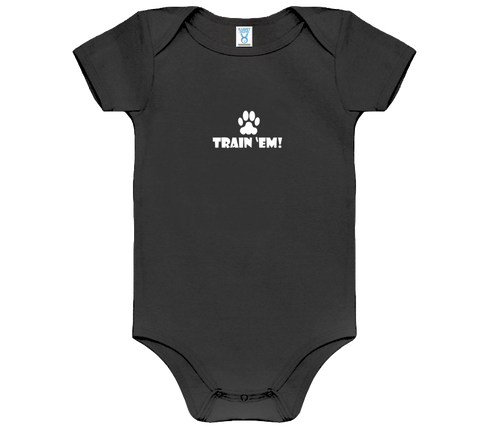 Baby Dark Train 'Em Onesie