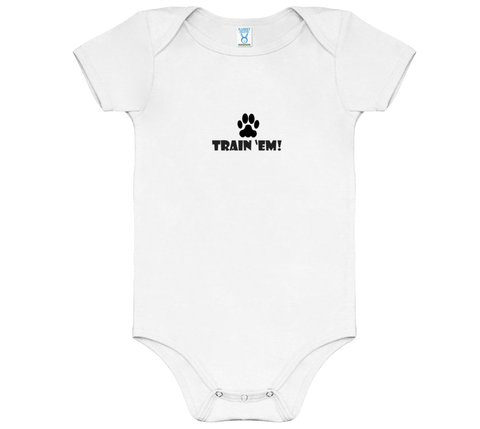 Baby Light Train 'Em Onesie