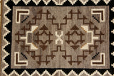 Native American, Navajo Vintage Hand Woven, Two Gray Hills Textile, #1048 Sold
