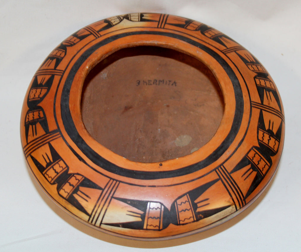 Native American, Exceptional Historic Low Shouldered Hopi Tewa Bowl, Ca 1910-1920, #1078