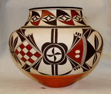 Native American, Exceptional, Acoma Olla by Barbara and Joseph Cerno, Ca 2006, #1076-Sold
