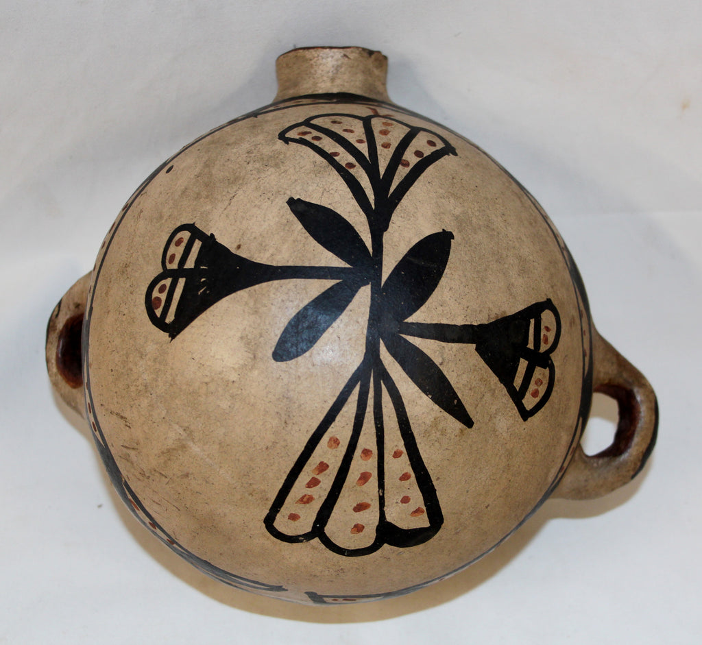 Native American, Historic Cochiti Pottery Canteen, Ca 1920's, #1078
