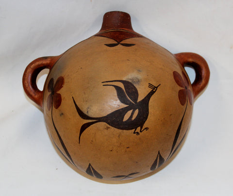 Native American, Historic, Excellent Zia Pottery Canteen, Ca 1925-35, #1079