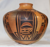 Native American Hopi Poly chrome Pottery Jar, #662