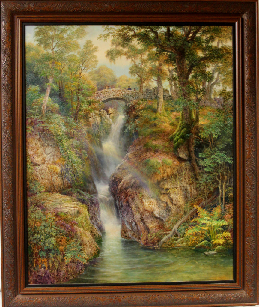 "Graham Twyford, Landscape Oil Painting Titled "" Aira Force"" from the Lake District, United Kingdom, #1126"