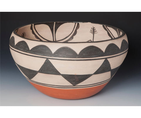 Native American Large Santo Domingo Bowl by Robert Tenorio (1950-), #823