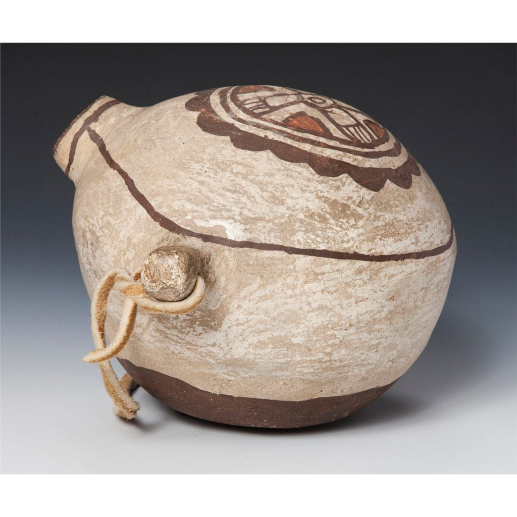 Native American Historic Zuni Pottery Canteen, ca 1890, # 824