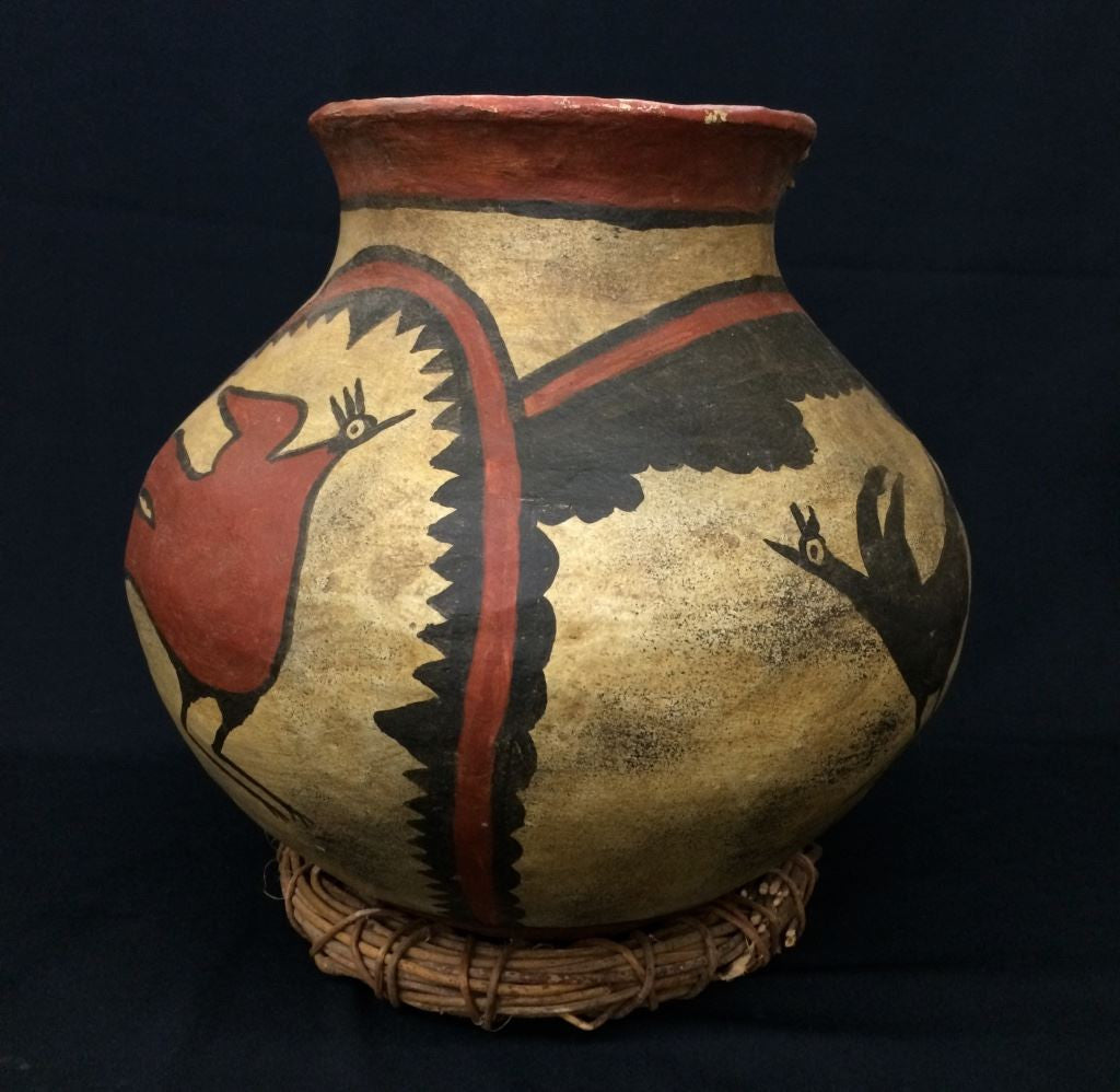 Large Pueblo Style Pottery Pot (Circa early 1900's), Curiosity #5, 888 Sold