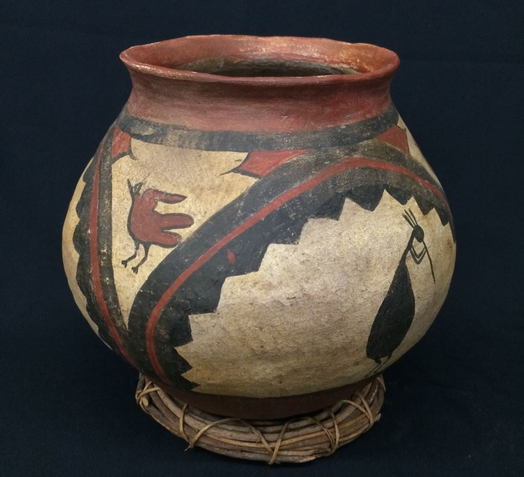 Large Pueblo Style Pottery Pot (Circa Early 1900's), Curiosity # 6, 889 Sold
