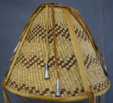 Native American Basket, Apache Burden Basket, Ca 1970's, #907
