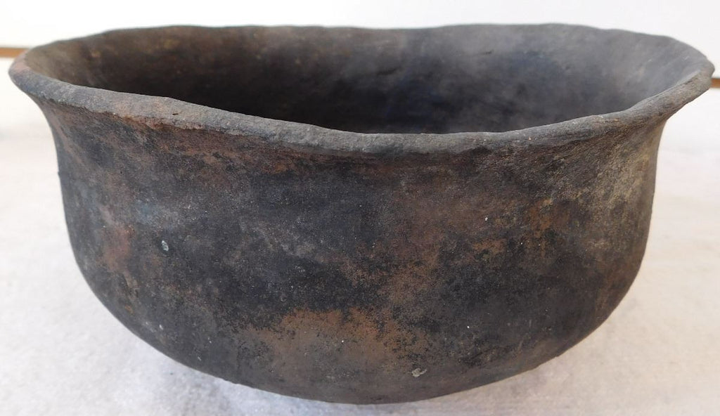 Native American, Historic Diegueno Small San Diego Pottery Plain Ware Cooking Bowl, #1030