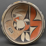 Native American Hopi Pottery Bowl, by Irma David, Ca 1970's-1980's #1002