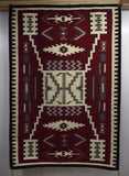 Native American Navajo Hand Woven Wool Rug, 1970's, #1032