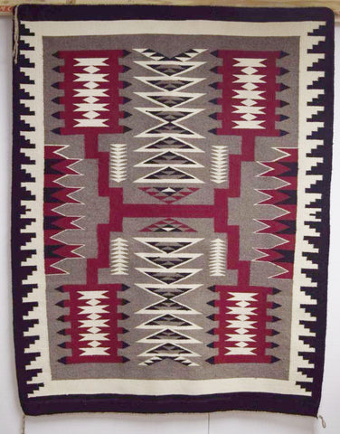 Native American, Navajo Storm Pattern Weaving, Ca 1980's, #1043