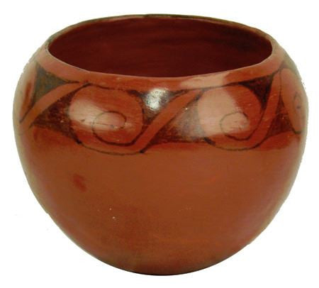 Native American, Maricopa Pottery Bowl, by Evelyn Yarmata, Ca, Mid 1900's , #1044
