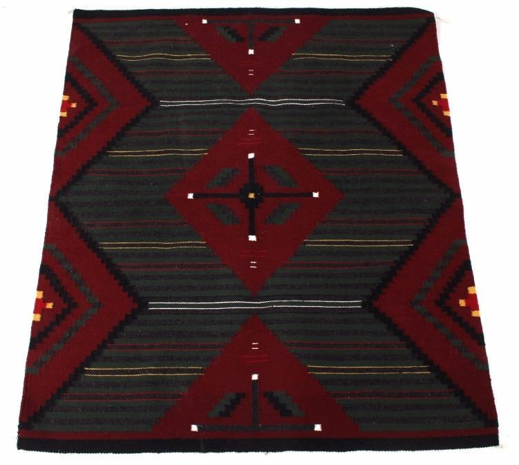 Navajo Chief's Trade Blanket, Ca 1970's, Attributable to Annie Roanhorse, #1073