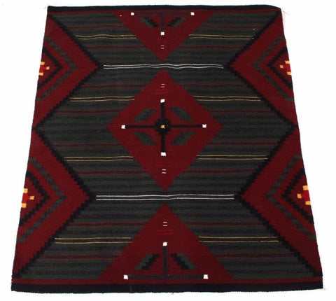 Native American, Navajo Chief's Style Trade Blanket, Ca 1970's, Attributable to Annie Roanhorse, #1073