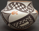 Native American Acoma Poly Chrome Pottery Jar, by Delores Aragon, #1173