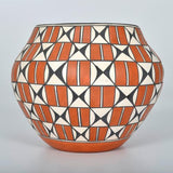 Native American, Acoma Poly Chrome Pottery Olla, Loretta Garcia (Acoma, B. 1956) #1197 Sold
