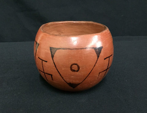 Native American, Tohono O'odham Pottery Bowl, Ca 1960's, #1335