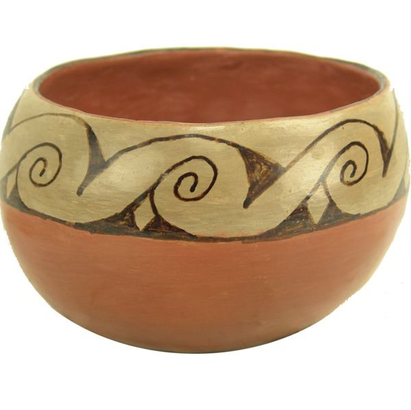 Native American Vintage Maricopa Pottery Bowl, by Vesta Bread (1912-1973), Ca 1900's, #1384