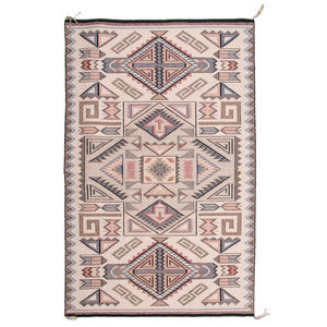 American, Vintage Navajo Raised Outline Teec Nos Pos Weaving/Rug, Attributed to Rita Begay (Dine, 20th Century),#1430