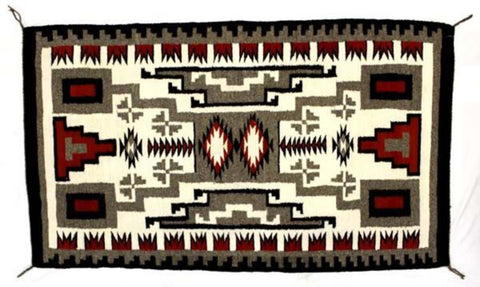 Native American, Exceptional Navajo Storm Pattern Weaving/Rug, Ca 1970's, #1411