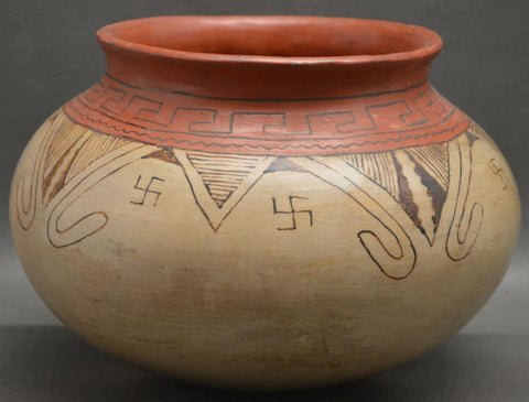 Native American, Vintage Maricopa Pottery Bowl, By Suzie Bill, Ca 1940's, #1424