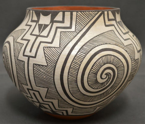 Native American, Vintage Acoma Pottery Olla, by  Adrienne Roy Keene, Ca. 1970's, #1463
