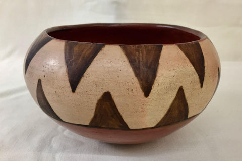 Native American, Vintage Maricopa Pottery Bowl, by Barbara Johnson, Ca 1950's, #1519