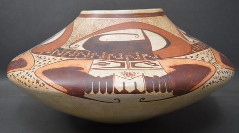 Native American, Vintage Hopi Polychrome Pottery Jar, Attributed To Mark Tahbo, Ca 1980's-90's, #1523
