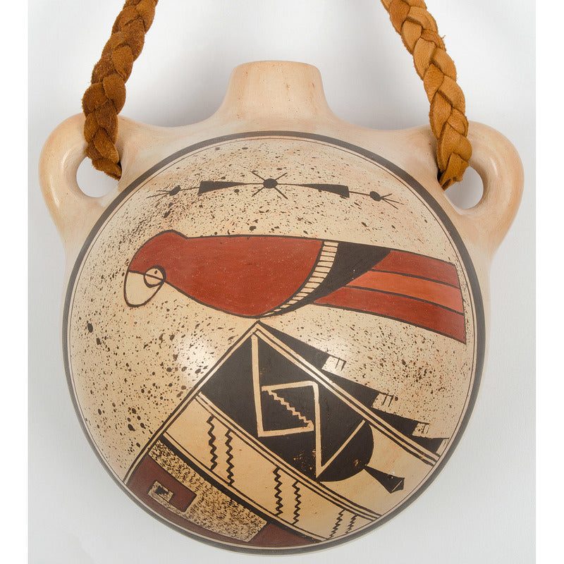 Native American, Hopi Poly Chrome Pottery Canteen, by Loren Ami (Hopi, b. 1968), Ca 1980's, #1347