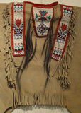 Native American Plains Beaded War Shirt, With Three Panels of Beadwork, #794 Sold