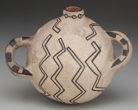 A Native American Historic Cochiti Polychrome Canteen, c. 1900, #797