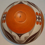 Native American Acoma Poly-chrome Pottery Olla by Dolores J. Aragon, #848