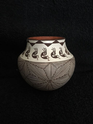 Delores Juanico Kokopelli Water Jar, #1365