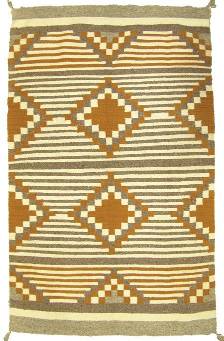 Native American, Beautiful Navajo Chief's Style Weaving/Blanket in Earth Tones, Ca 1950's, #970-Sold