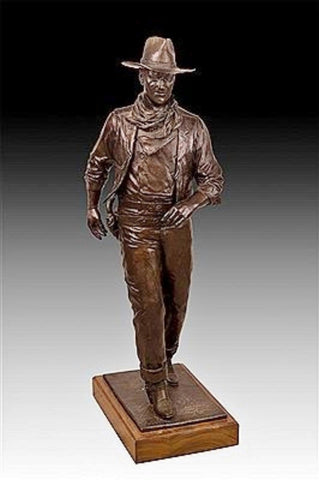 "Western Bronze Sculpture, Titled ""John Wayne"" by Robert Summers, Edition 110/152 Ca 1985, #C 1403"