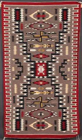 Native American Hand Made Vintage Navajo Wool Textile, by Lelia Tsosie, Chinle, AZ, #1093