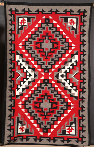 Navajo Ganado Wool Textile, by Marie Tom,  Ca 1976, #1094