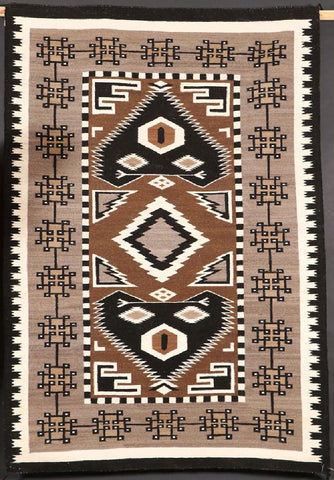 Native American Hand Made Vintage Navajo Teec Nos Pos Wool Textile, by Annabelle R. Benally, Burnaham, AZ, Ca 1978, #1098
