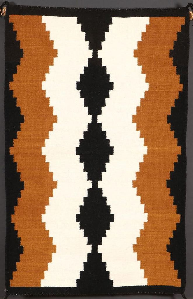 Native American Hand Made Vintage Navajo Wool Textile, by Rose Smith, White Horse, #1100