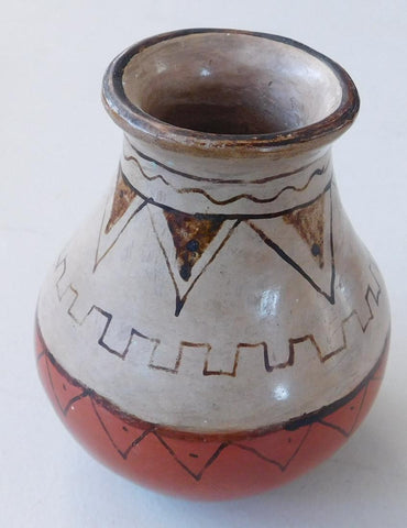Native American,  Maricopa, Poly Chrome Pottery Pot, Ca 1940's, #1189