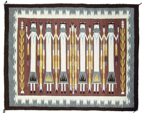 Native American, Navajo Yei weaving, by Zounie Sam, Ca 1980's #1177