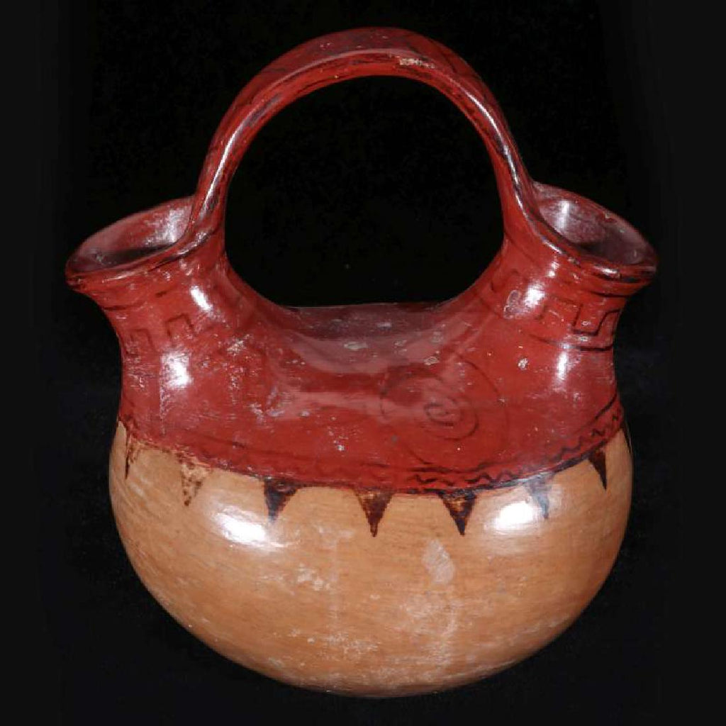 Native American, Vintage Maricopa Pottery Wedding Vase, Ca 1940's, #1211