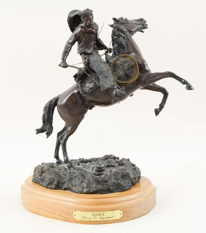 "Western Bronze Art, ""Spooked"" by James P. Regimbal, 34/50 1981, #1217"