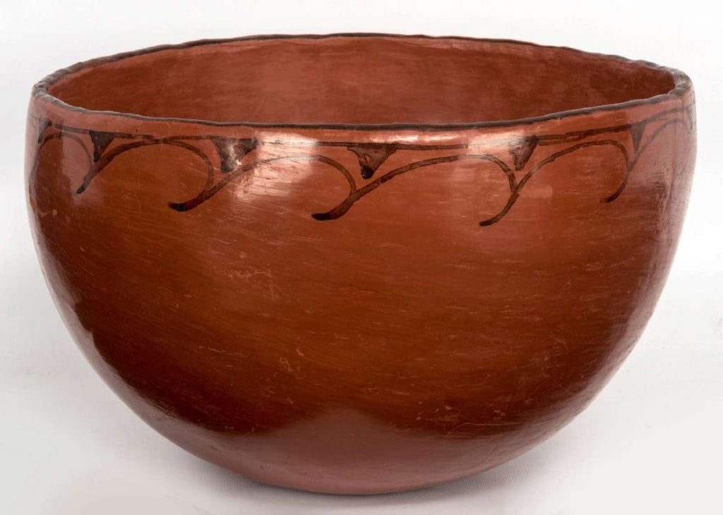 Native American, Vintage Very Large Maricopa Pottery Bowl, Ca 1940's, #1267